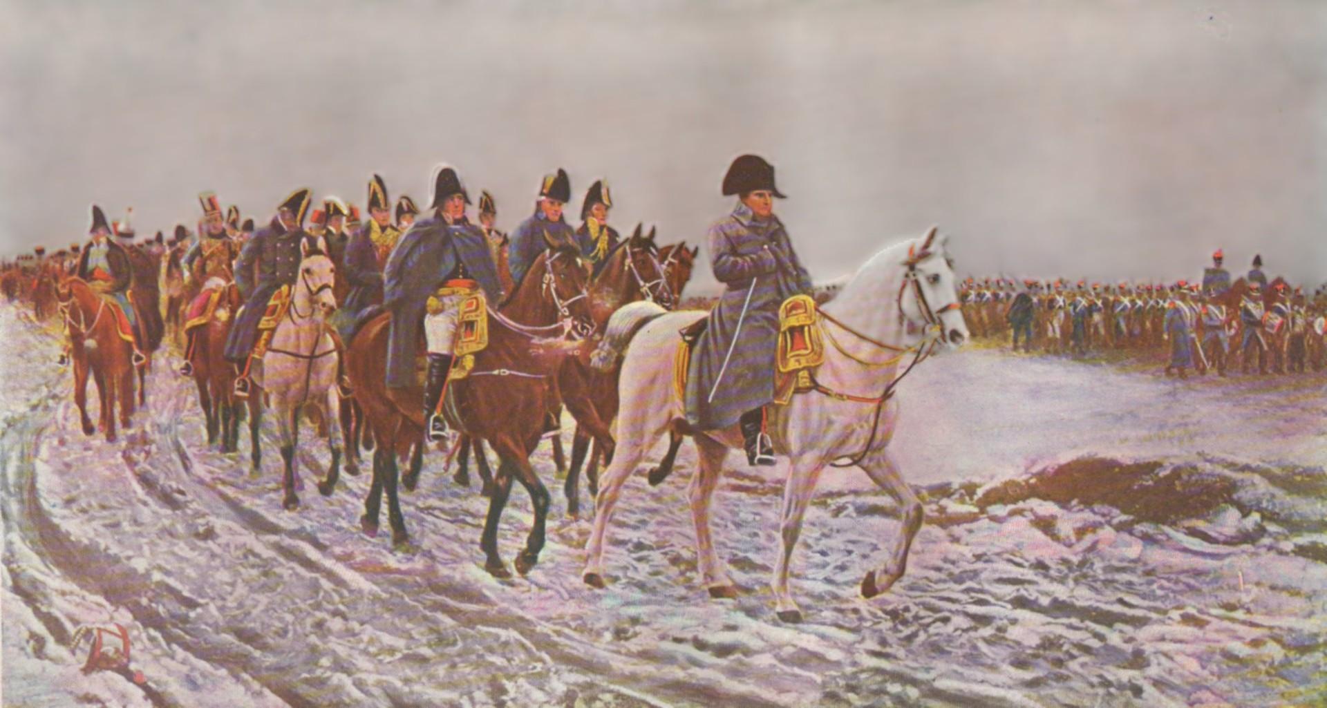 Наполеонова војска после пораза у Русији.