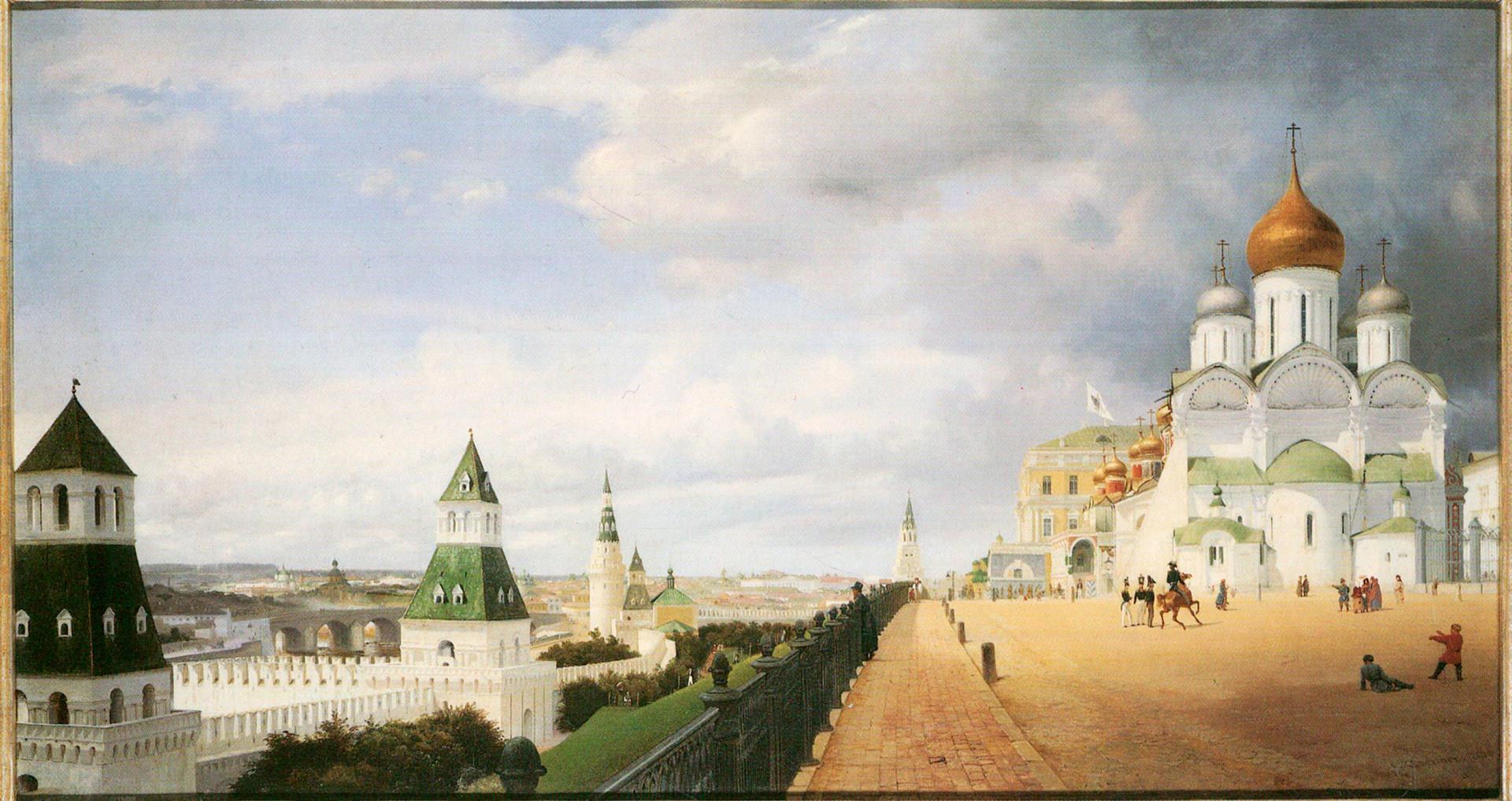 Beli moskovski kremelj pred prenovo.