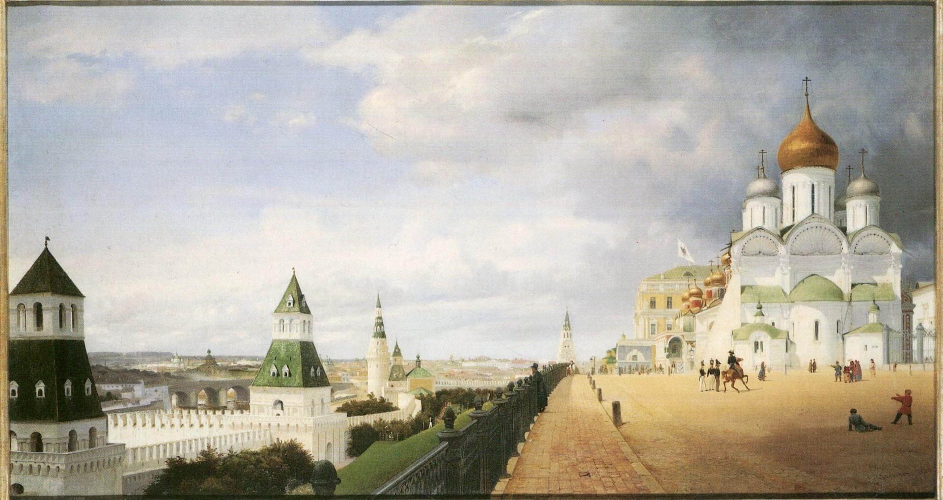 Московскиот Кремљ од бела вар