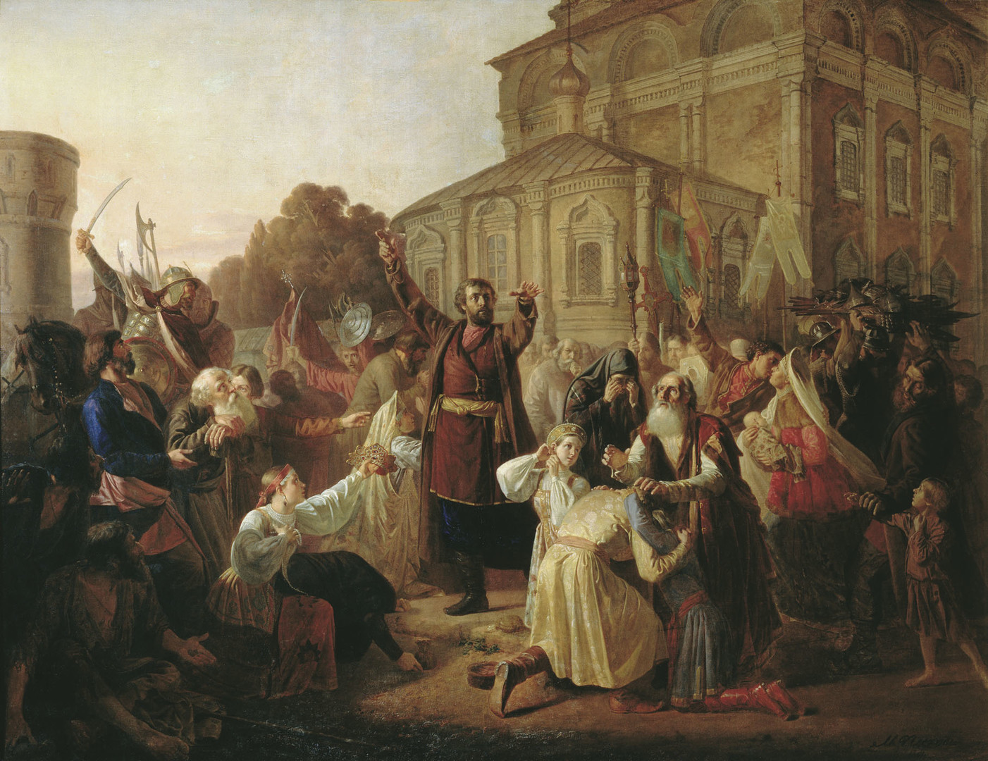 Кузма Минин ги повикува Русите да се обединат и да ја ослободат Москва од Полјаците