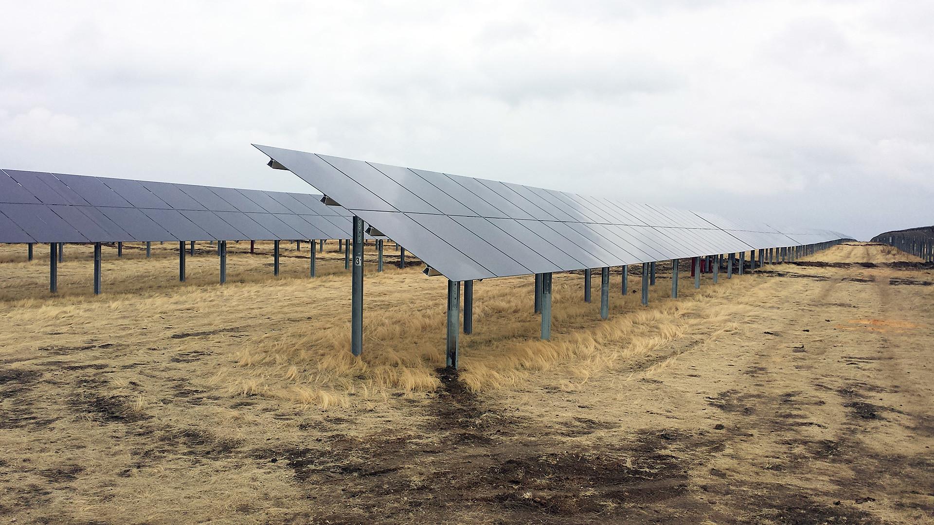 Buribaeyvskaya solar plant in Bashkortostan.