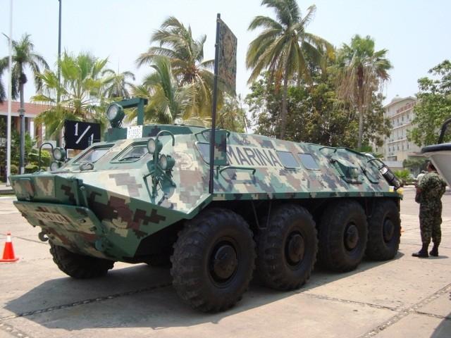 BTR-60 perteneciente a la Marina Armada de Mexico