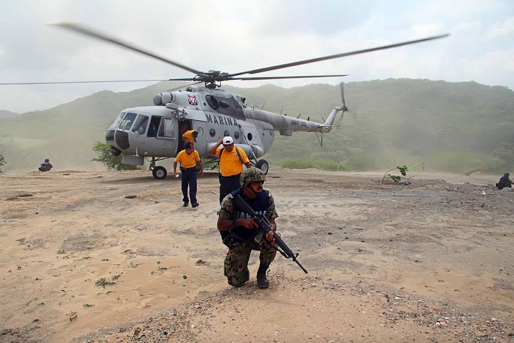 El Mi-17 de la Armada Mexicana