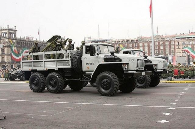Ural 4320-31 perteneciente a la Marina Armada de Mexico