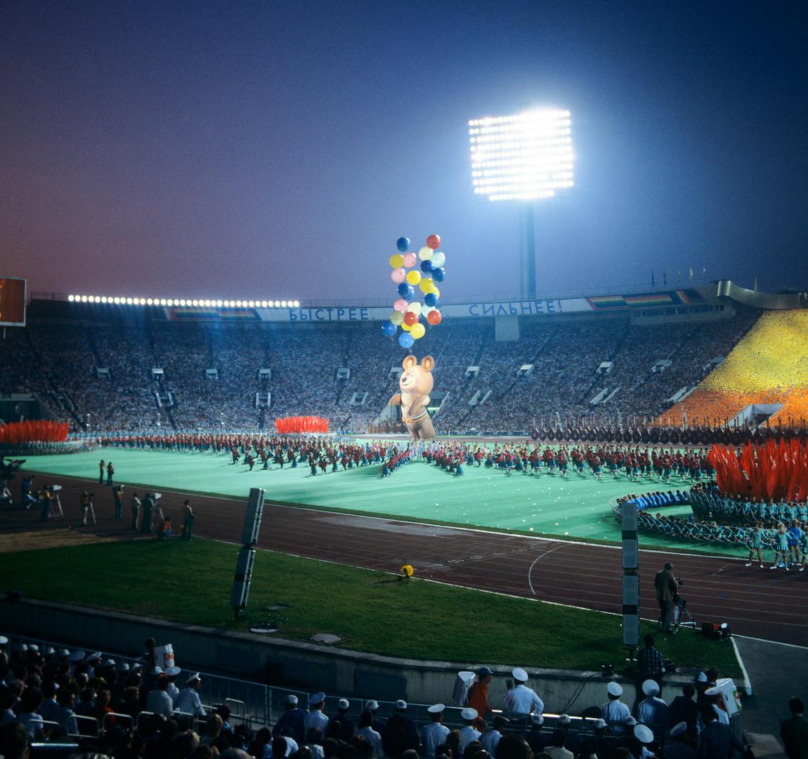 La cerimonia di chiusura dei Giochi Olimpici del 1980
