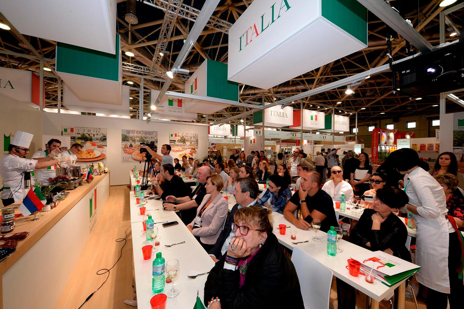 Masterclass culinaria nel padiglione italiano della fiera