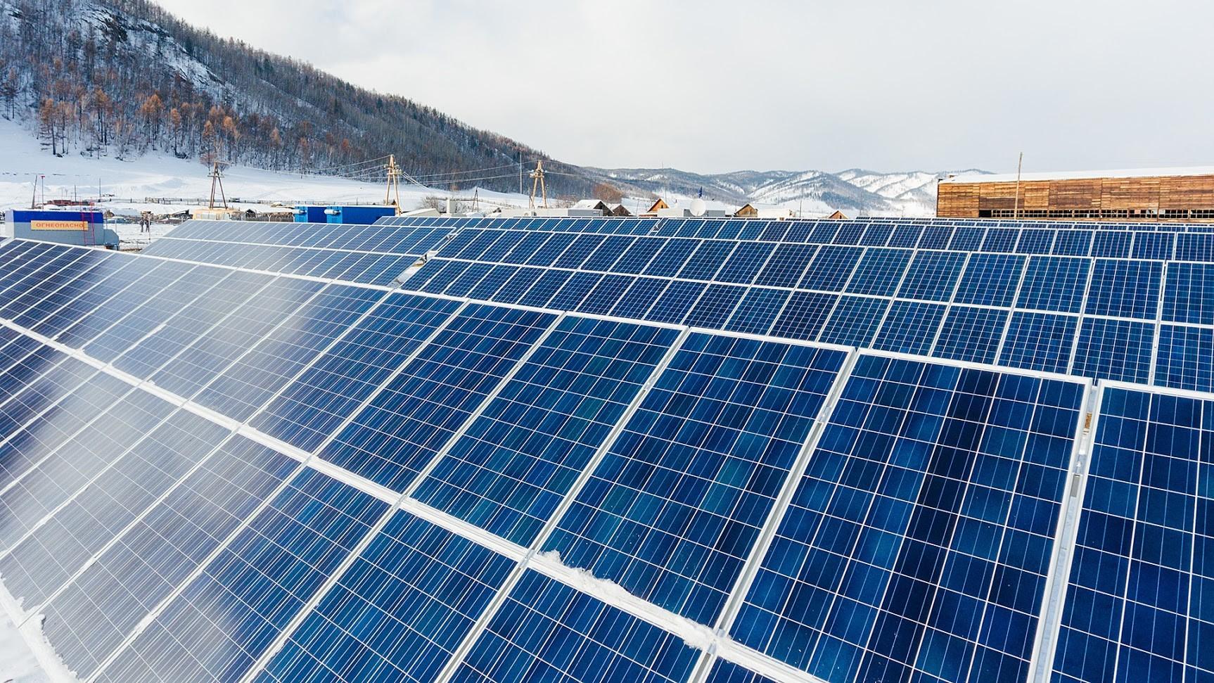 Слънчевата електроцентрала в Менза.