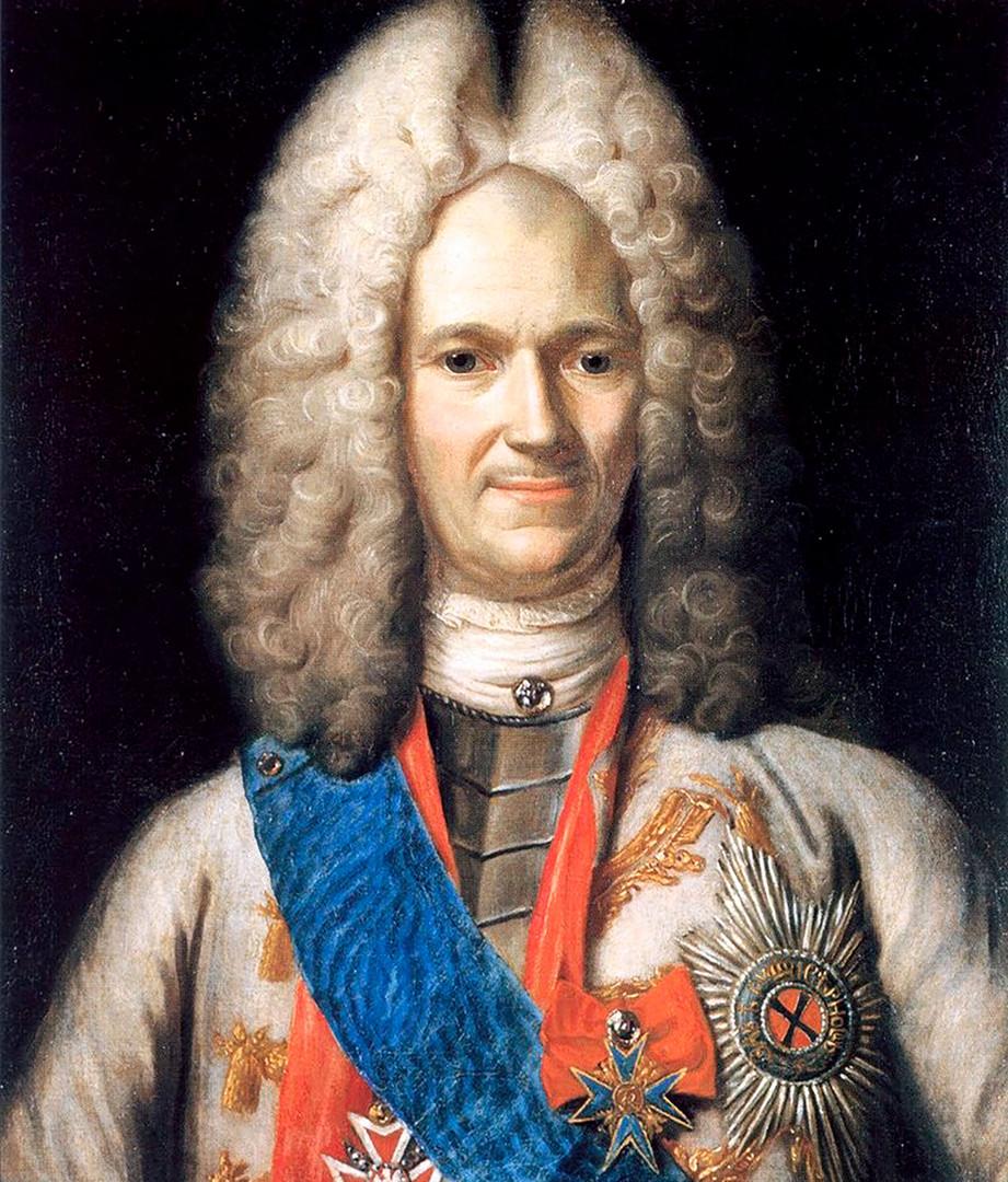 Aleksander Menšikov, družabnik in prijatelj carja Pjotra Velikega.