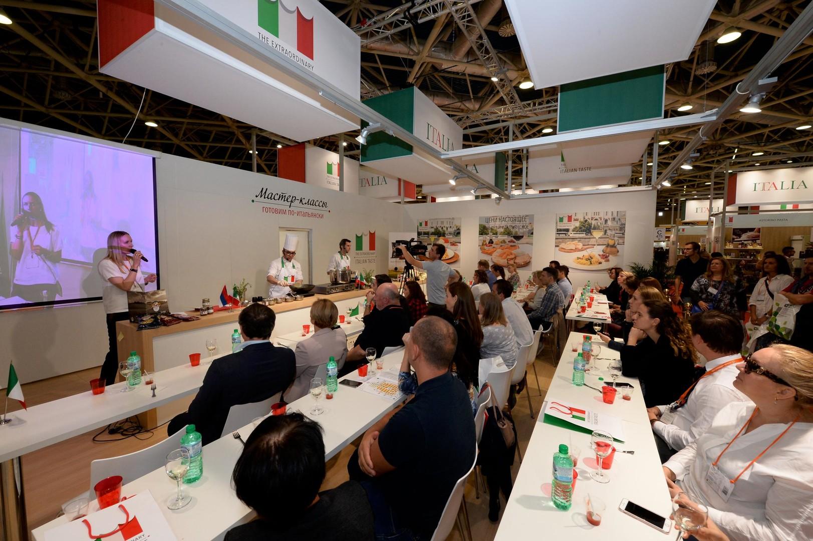 Masterclass di cucina con i prodotti esposti dalle 50 aziende italiane