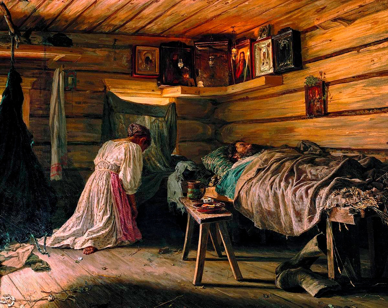 Vasily Maximov. The sick husband, 1881