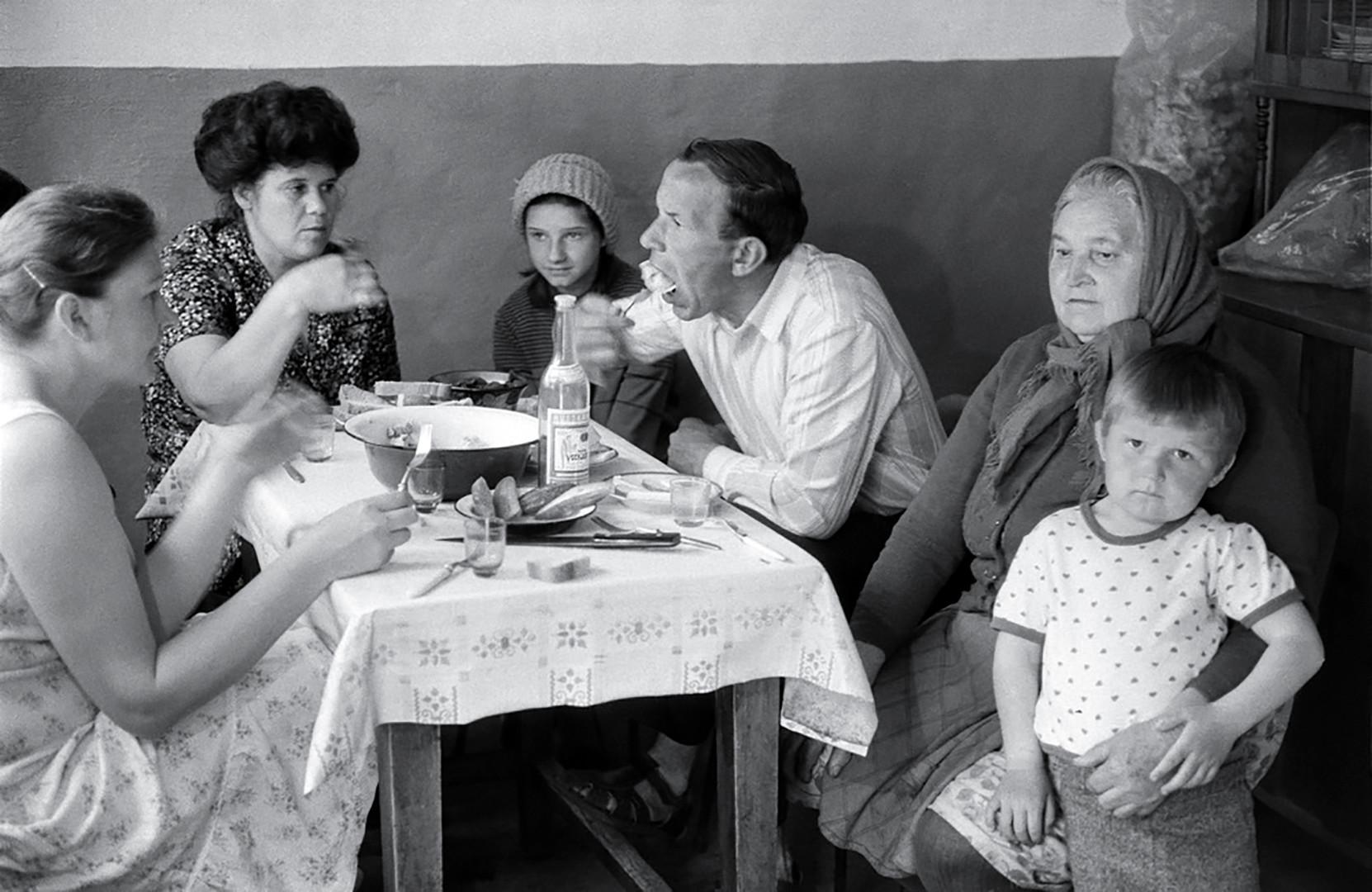 Dumplings at relatives.