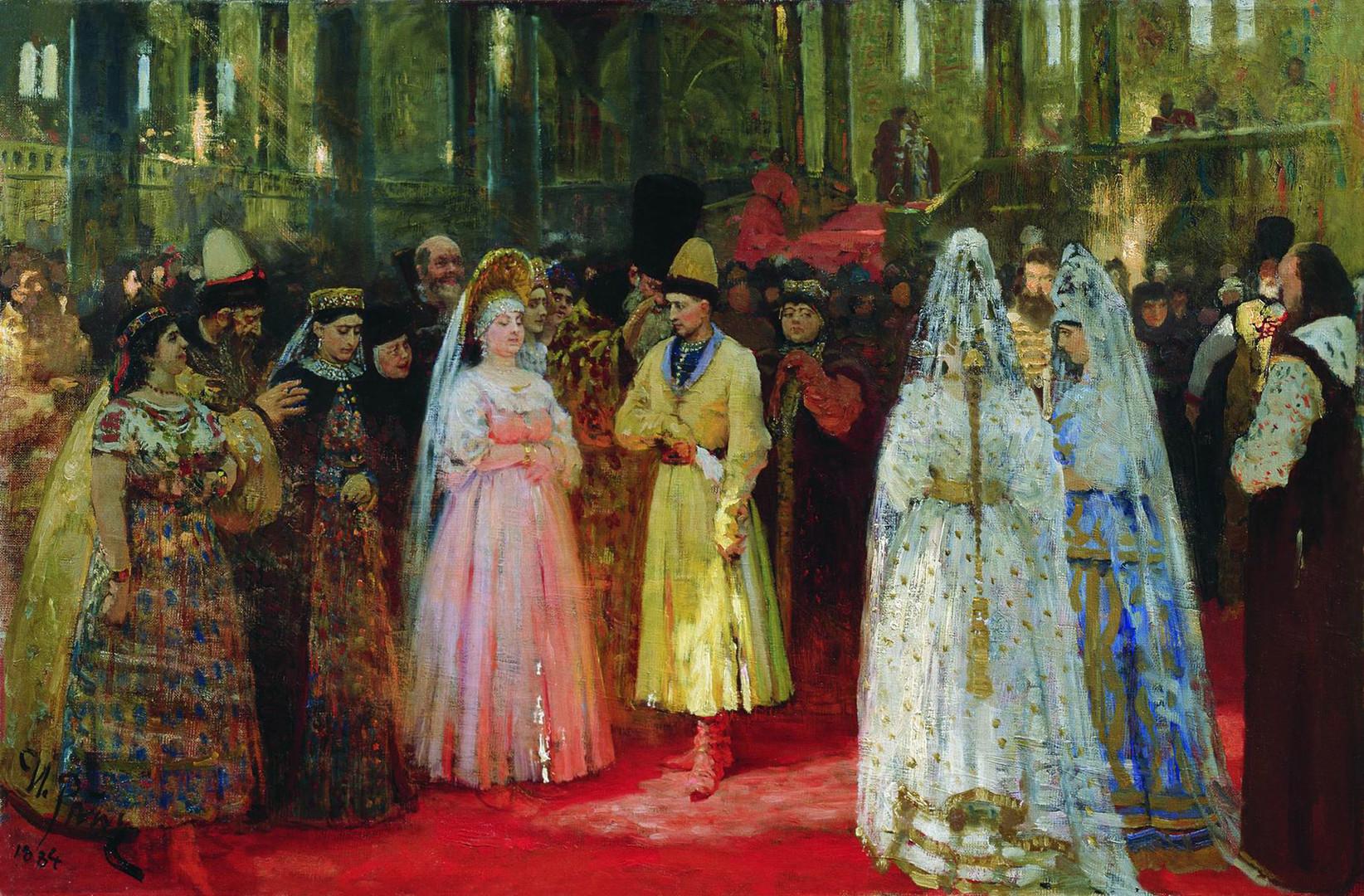 「大公の花嫁の選択」、イリヤ・レーピン画