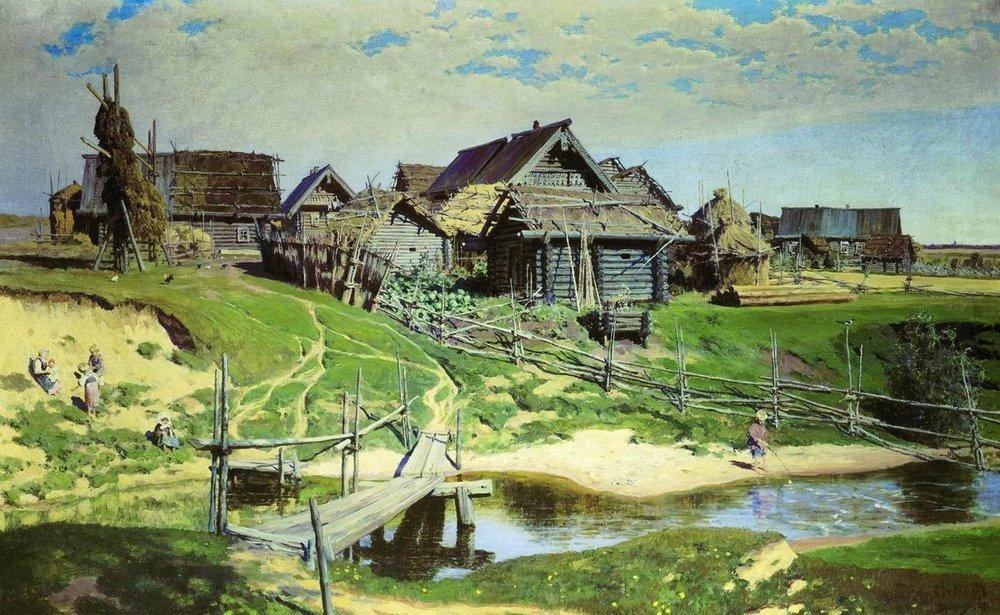 Ein russisches Dorf 1888