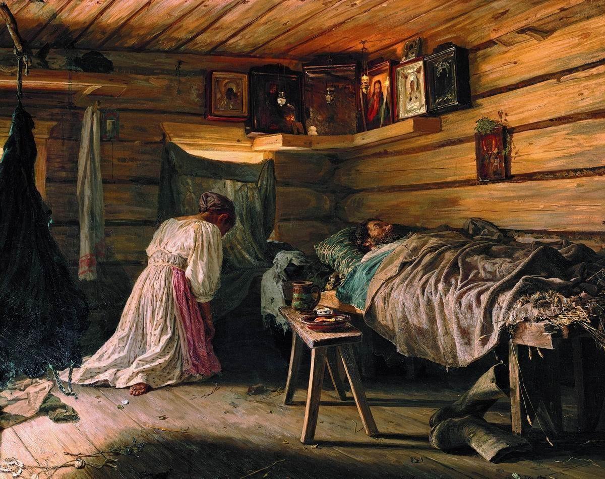 Wassilij Maximow: Der kranke Ehemann, 1881