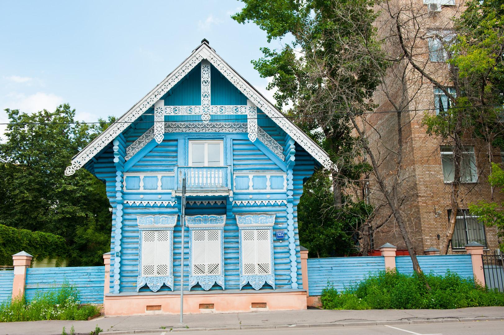 Genial Russisches Holzhaus Beste Wahl Das Pogodin- Auf Der Gleichnamigen Straße In