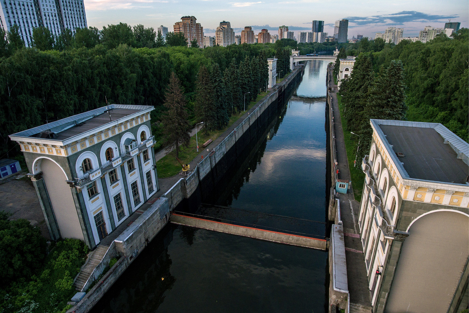 A view of a Moscow Canal lock