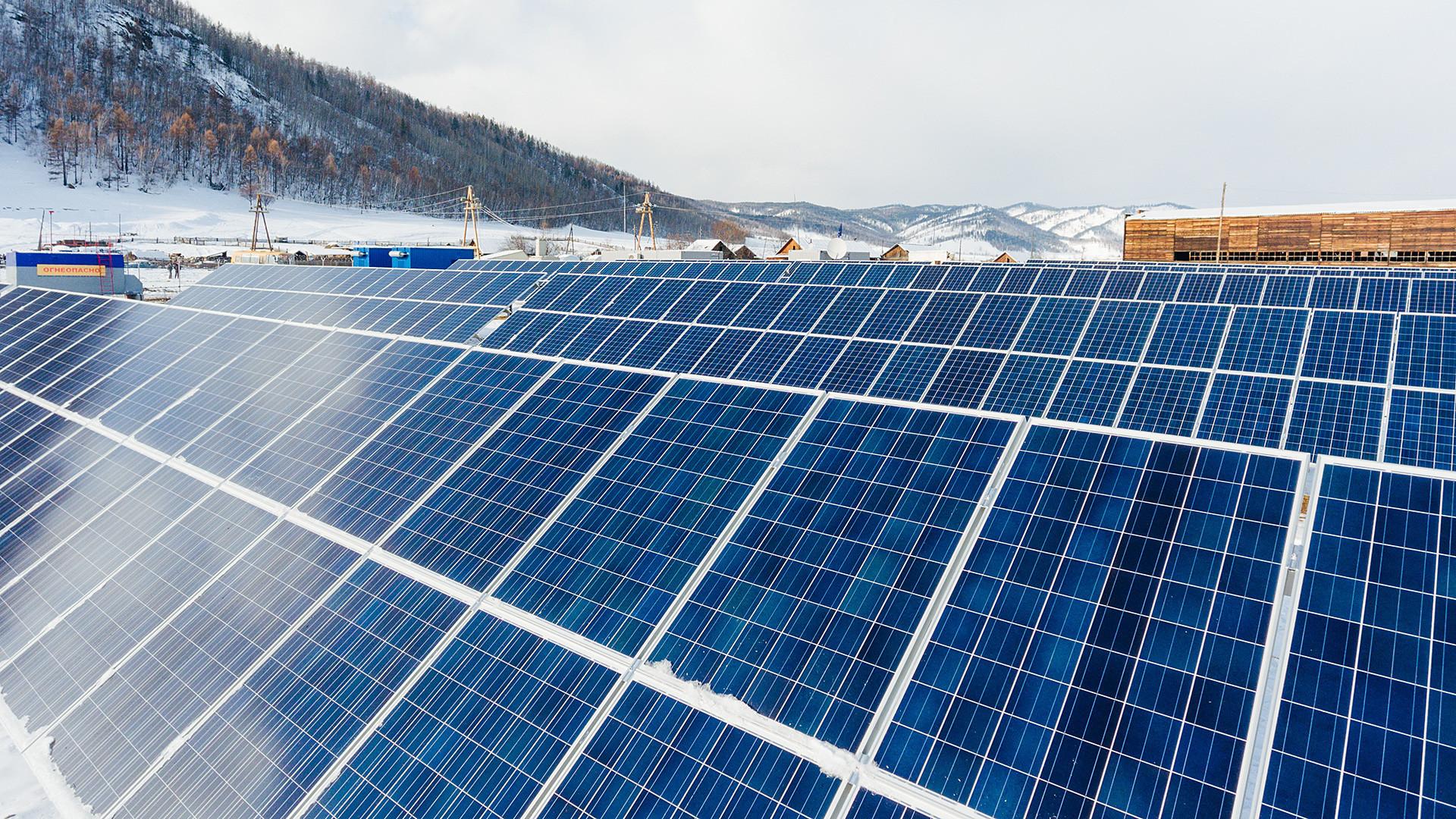 Solaranlage in der Mensa, Transbaikalien