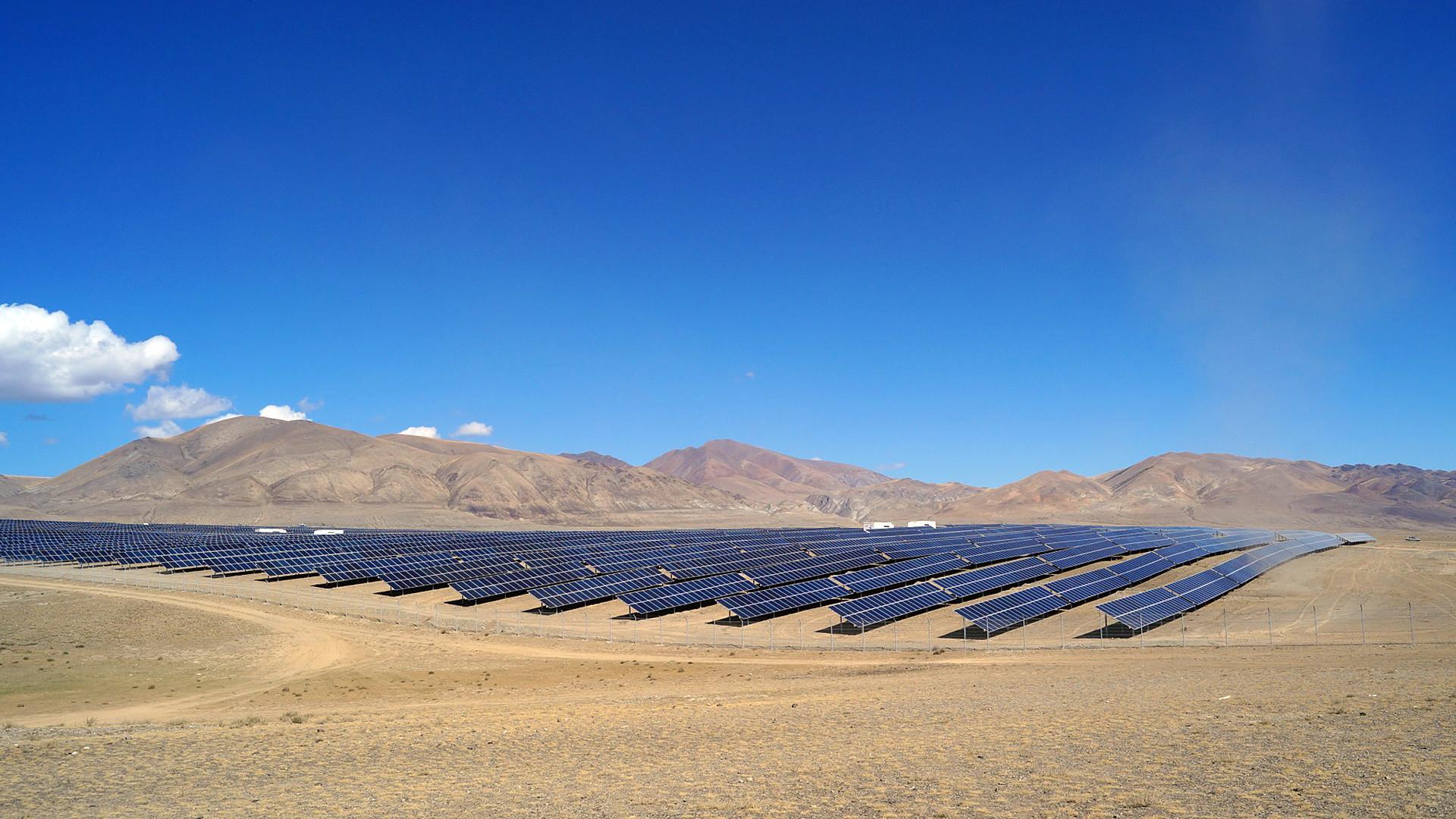 Impianto fotovoltaico nella regione dell'Altaj