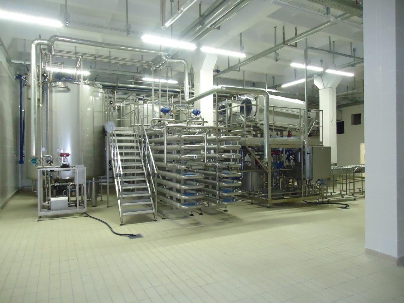 Oprema podjetja Protemol v mlekarni v Belgorodu.