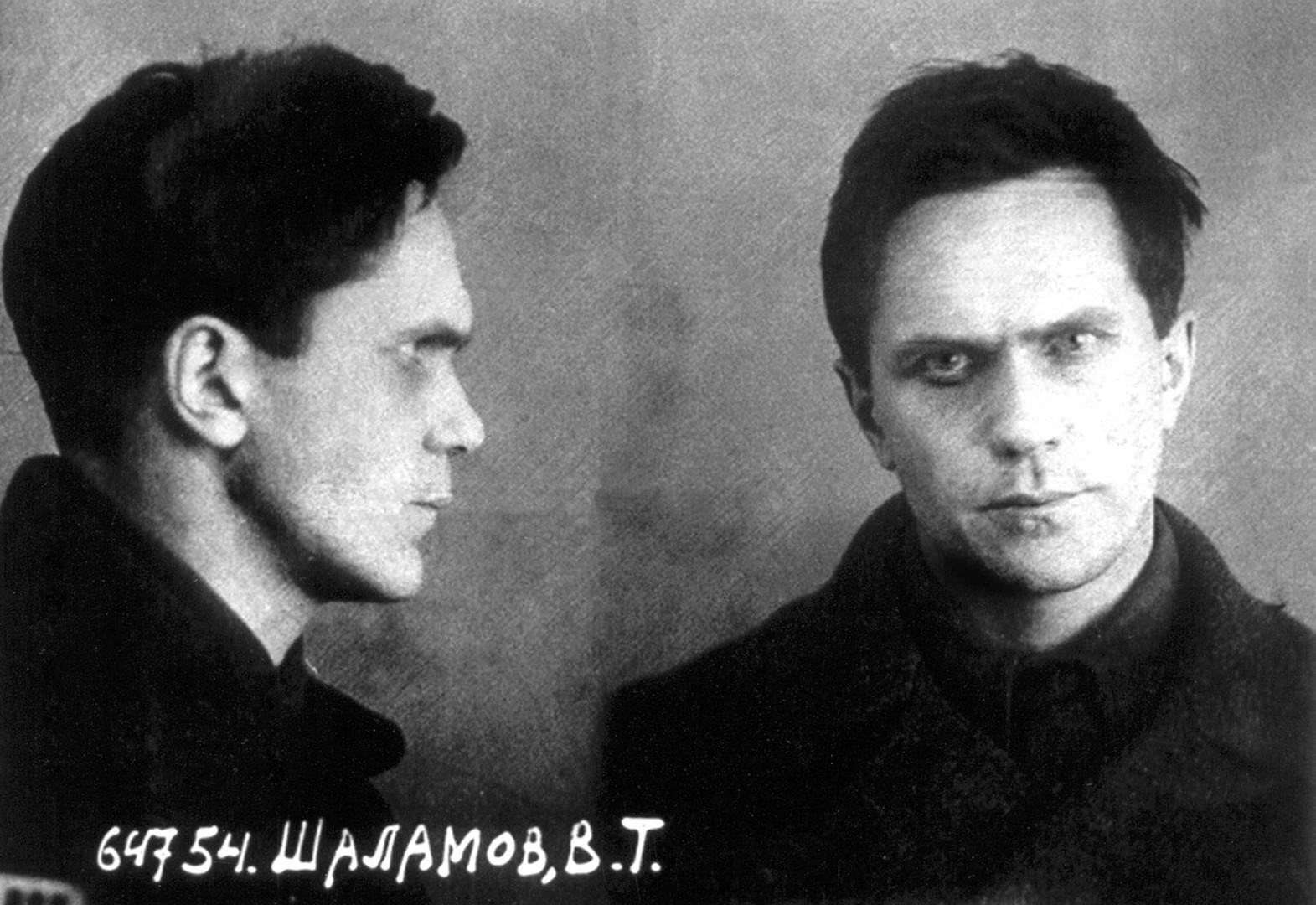 作家ヴァルラム・シャラモフ、1937年、内務人民委員部の写真