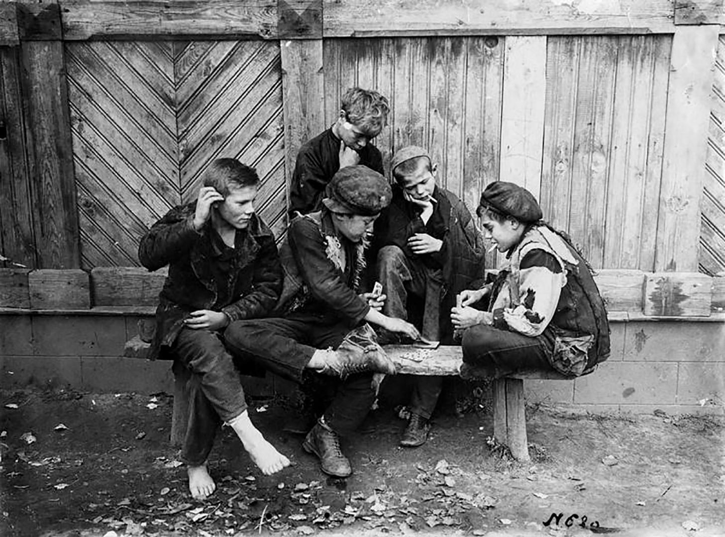 Straßenkinder in der Provinz, 1920er Jahre