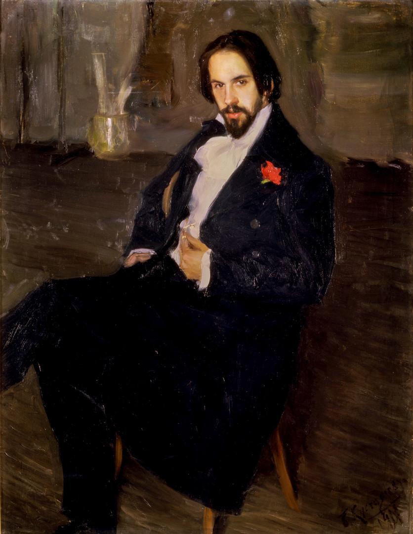 Ivan Bilibin. Portrait par Boris Koustodiev.