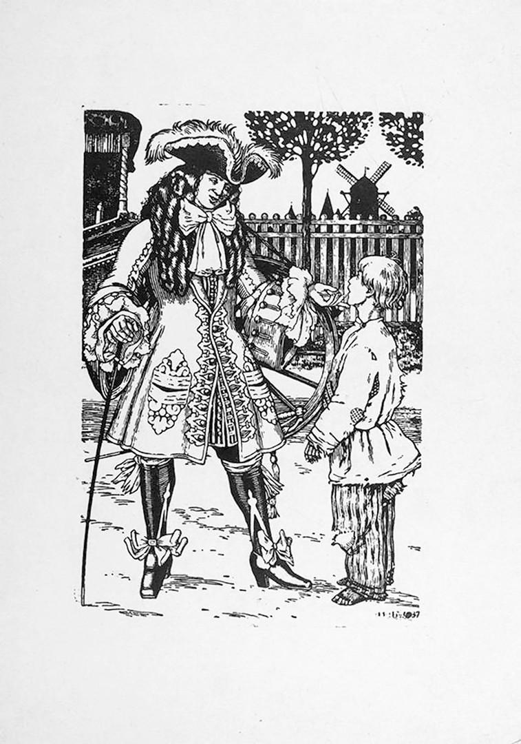L'esquisse par Bilibine de Pierre le Grand pour le roman éponyme d'Alexeï Tolstoï.