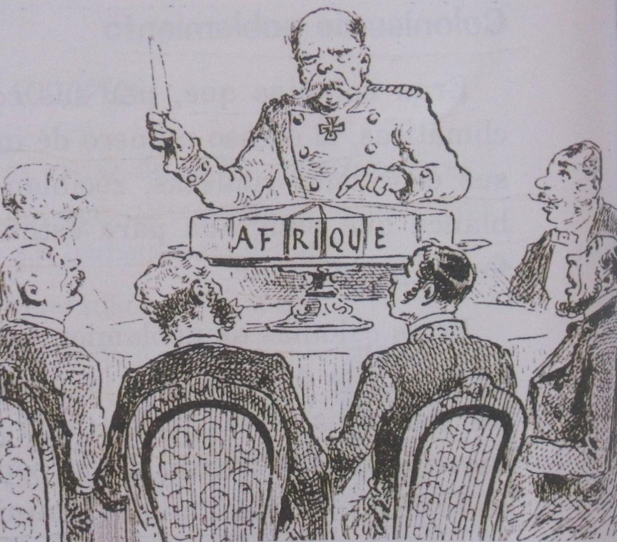 Caricatura sulla conferenza di Berlino