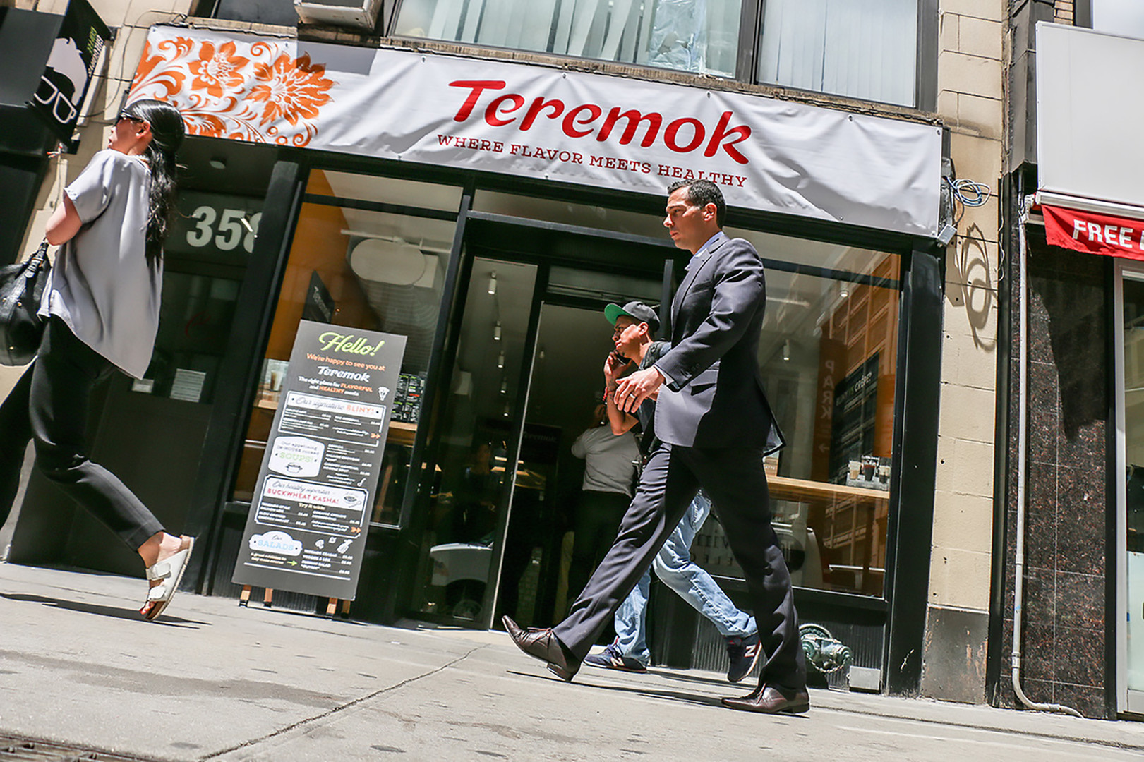 Russische Fast-Food-Kette Teremok in New York City