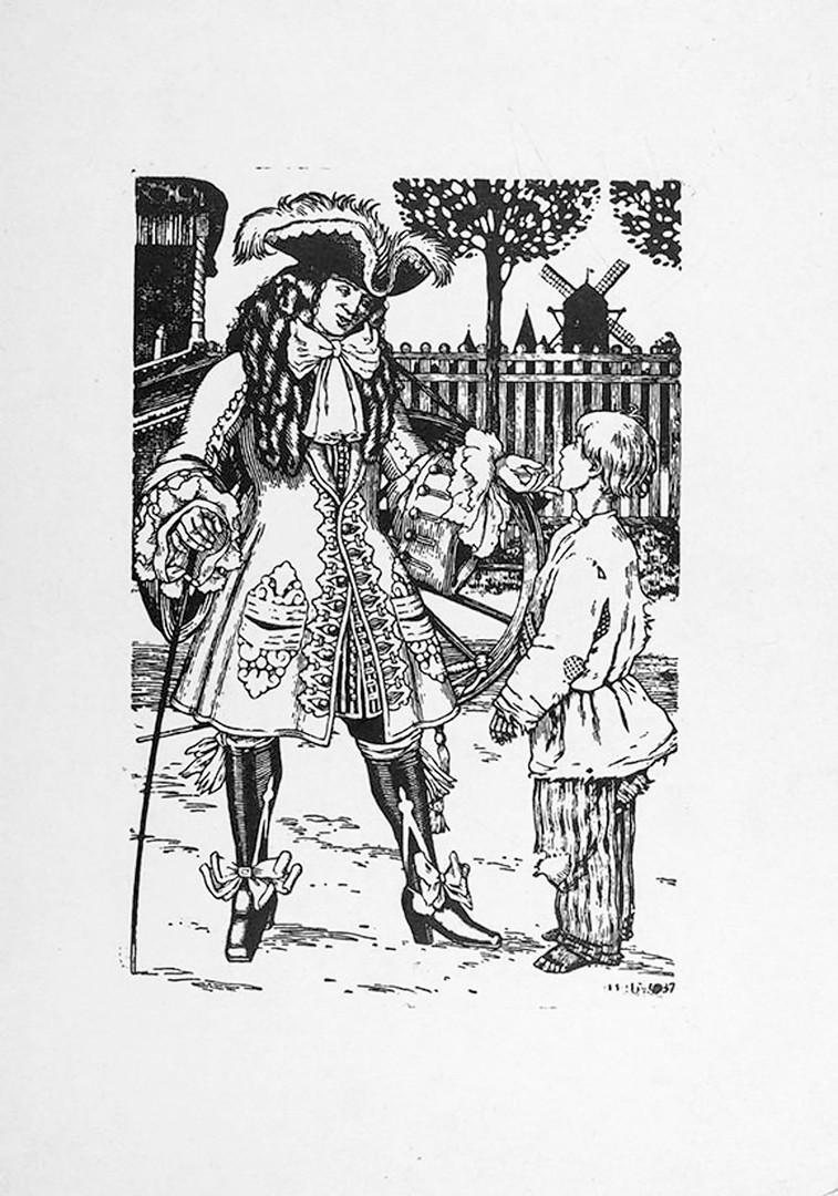 """Илустрација Ивана Билибина за књигу """"Петар Велики"""" Алексеја Толстоја."""