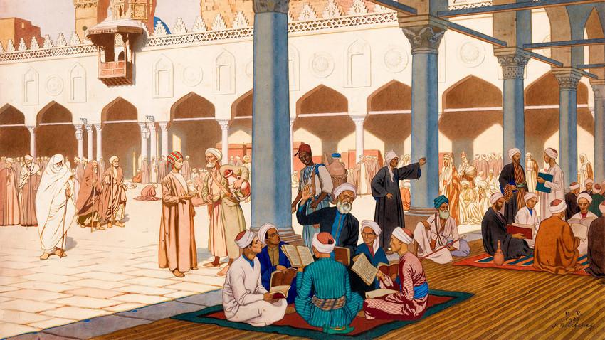Унутрашње двориште џамије Ал Азар, Иван Билибин.