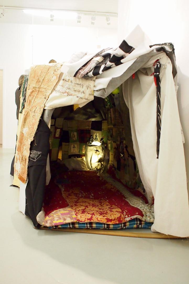 Maria Arendt. Tent. 2016. Installation. Mixed media.