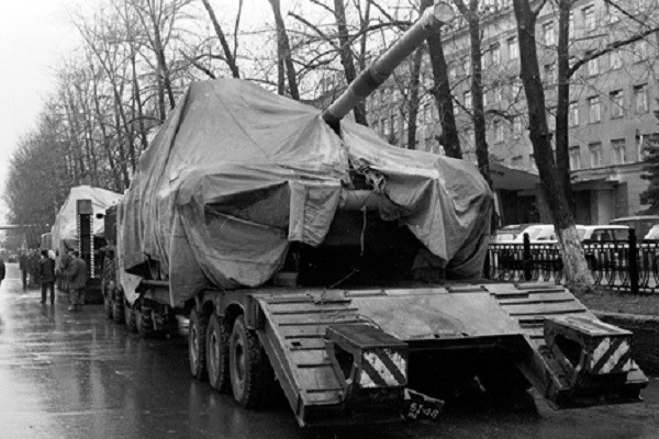 Т-90С, произведен в Нижни Тагил, 1999 г.