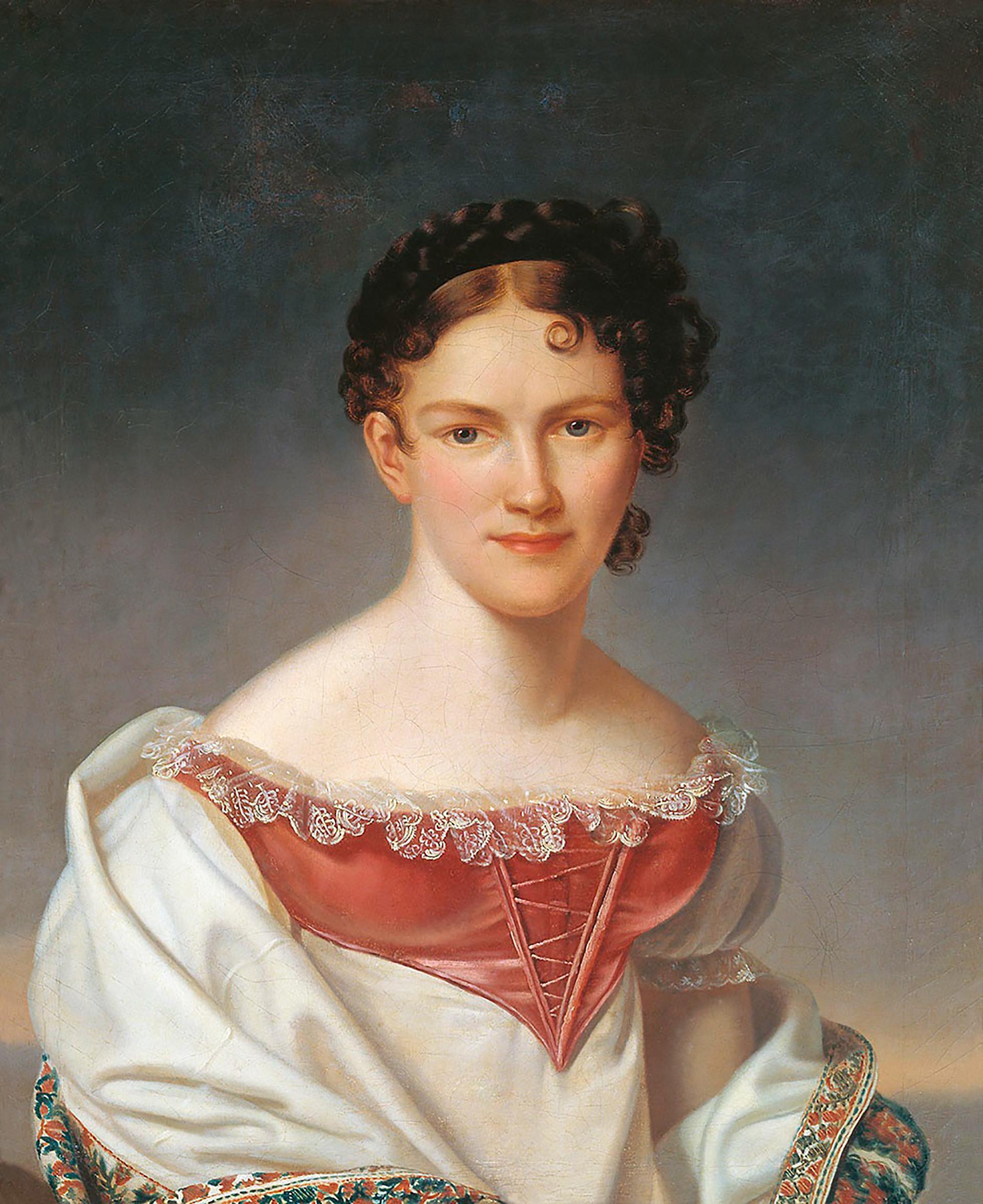 Portrait of Avdotia Istomina by Henri-François Riesener
