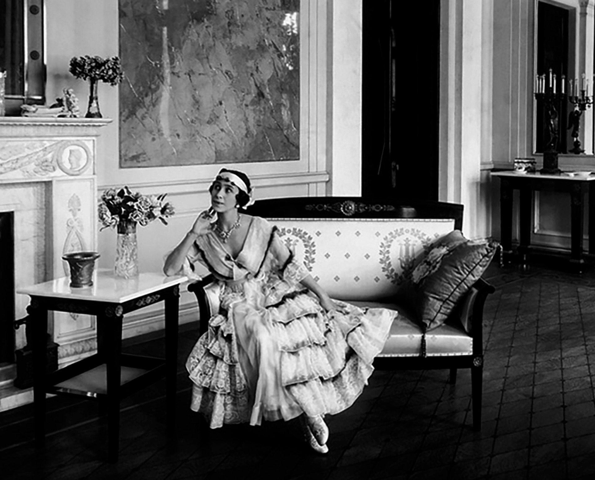 Mathilde Kschessinska in the drawing-room of her mansion Yakov Vladimirovich Steinberg