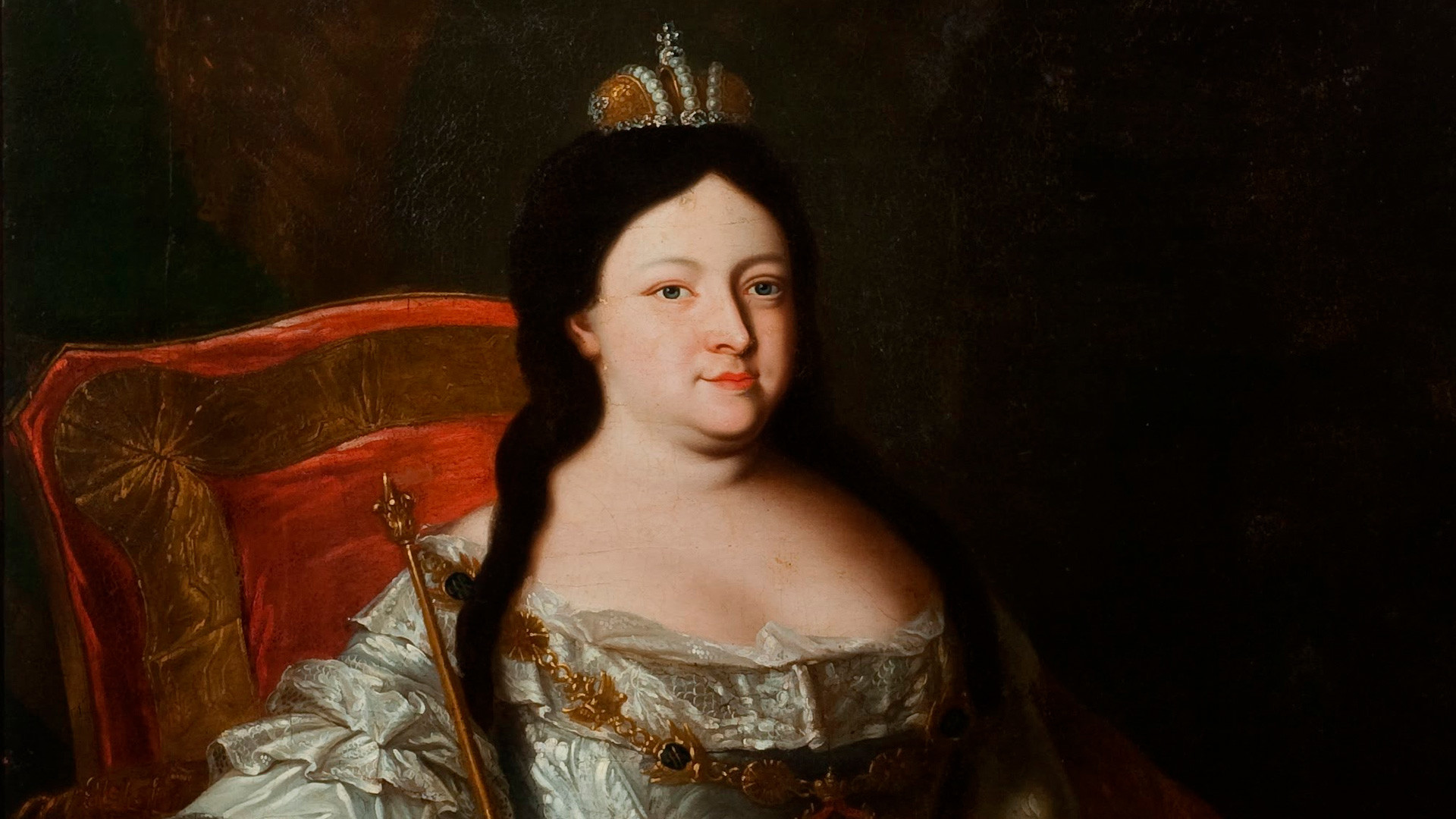Portrait of the Empress Anna Ioannovna.