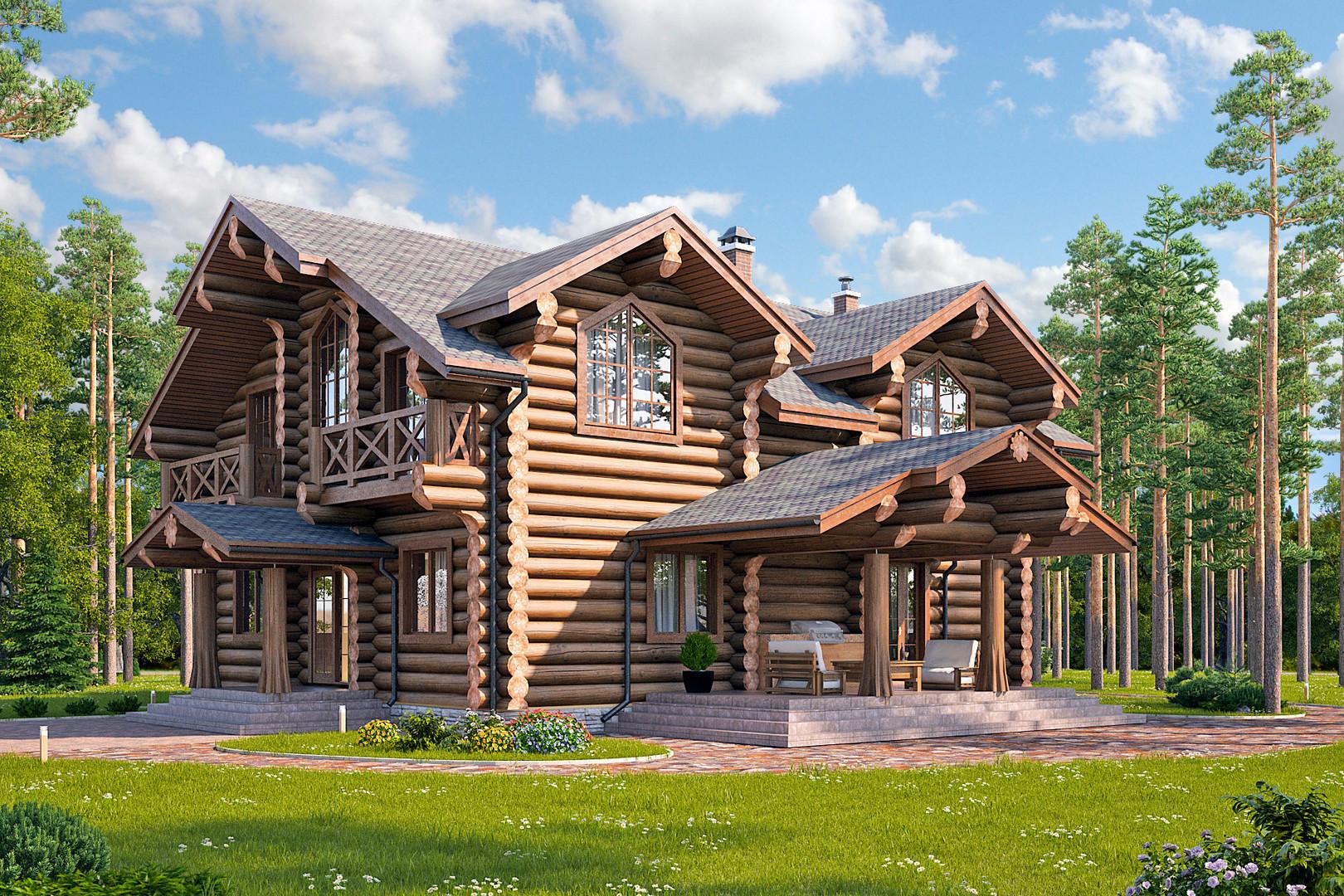 「ルースキエ・ホローミ」建設会社の家