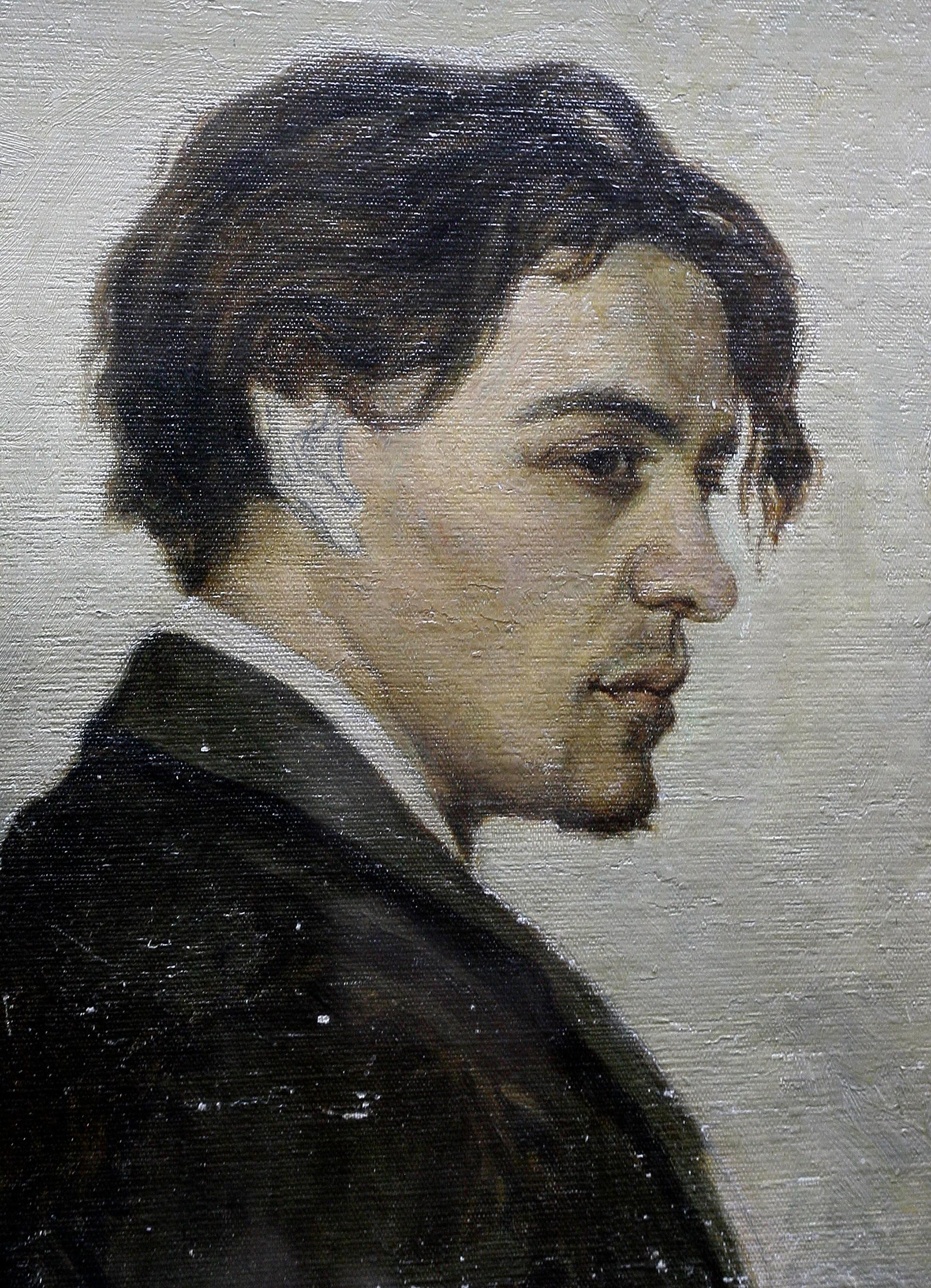 Diese Porträt von Tschechows Künstlerbruder Nikolaj hängt heute im Tschechow-Literatur-Museum in Tschechows altem Gymnasium.