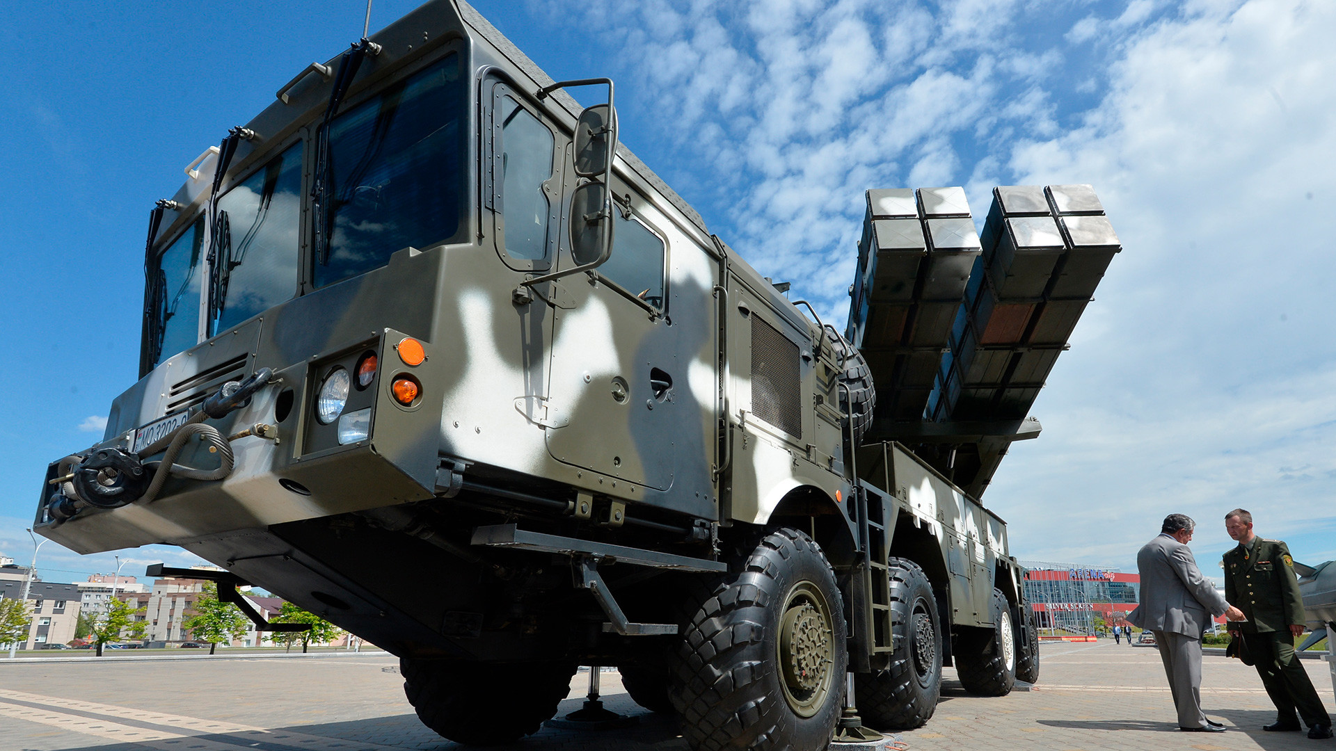 Lançador múltiplo Polonez na 8ª Exposição Internacional de Armas e Equipamentos Militares, em Minsk