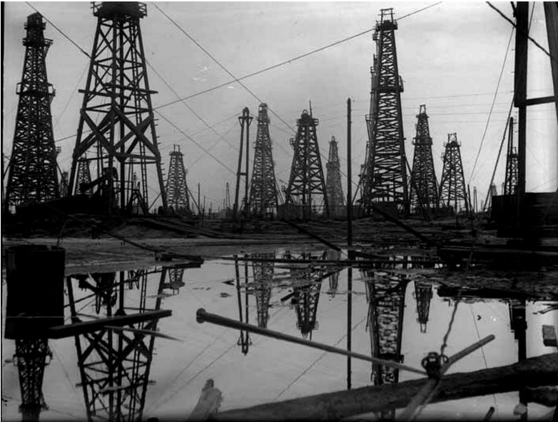 Naftni stolpi 1929, Azerbajdžanska SSR, Baku.