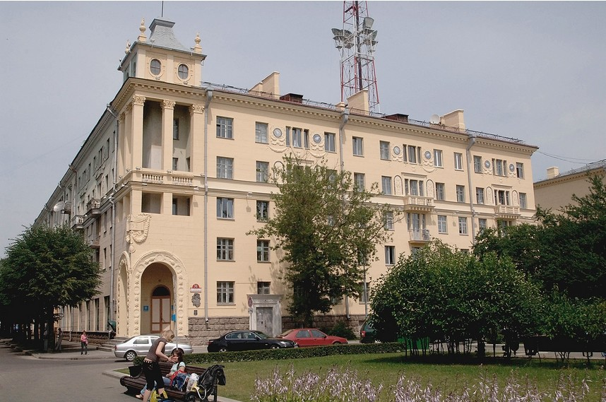 Zgradba v Minsku, kjer je Oswald živel.
