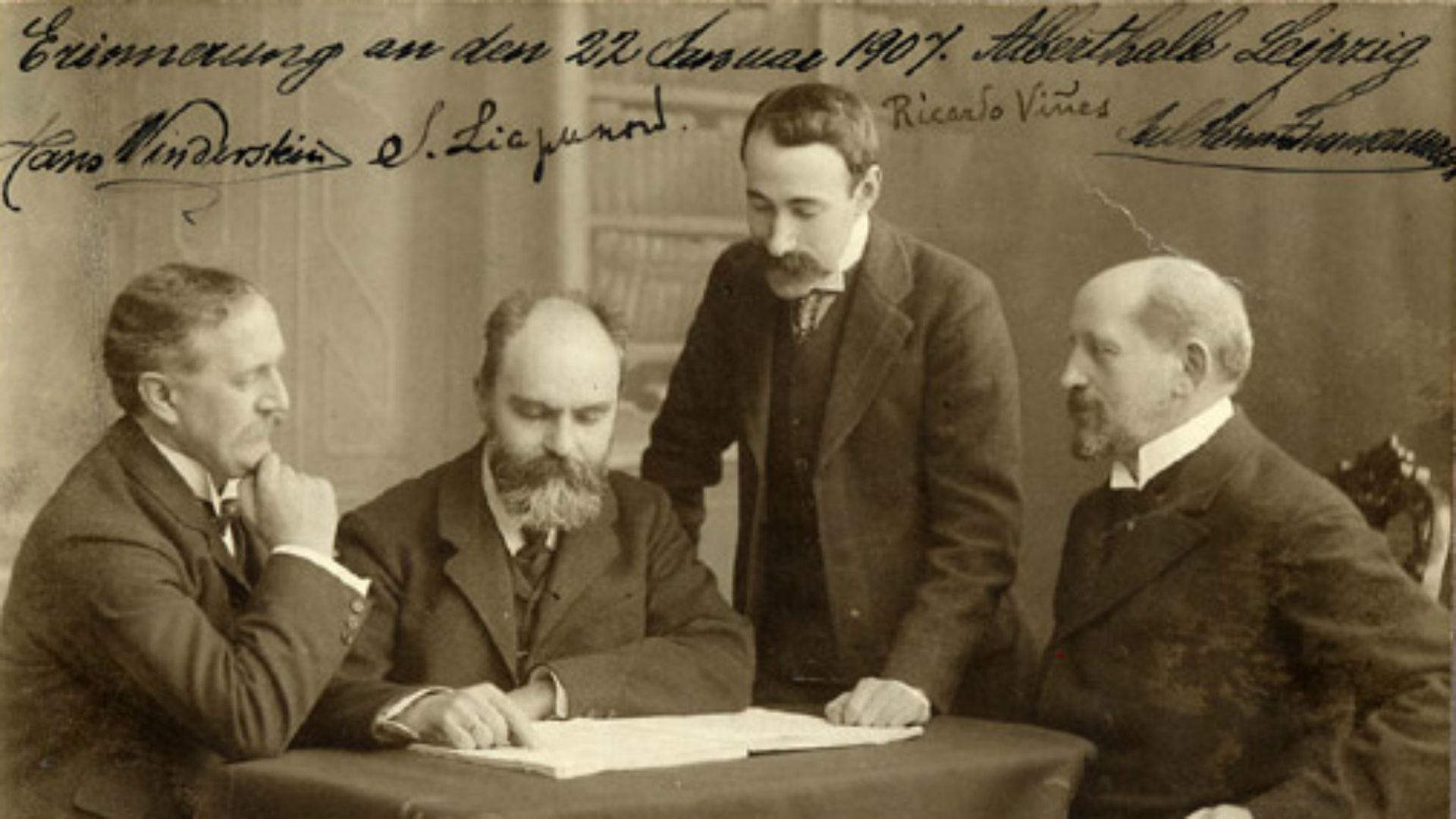 Sergueï Liapounov, deuxième à gauche.