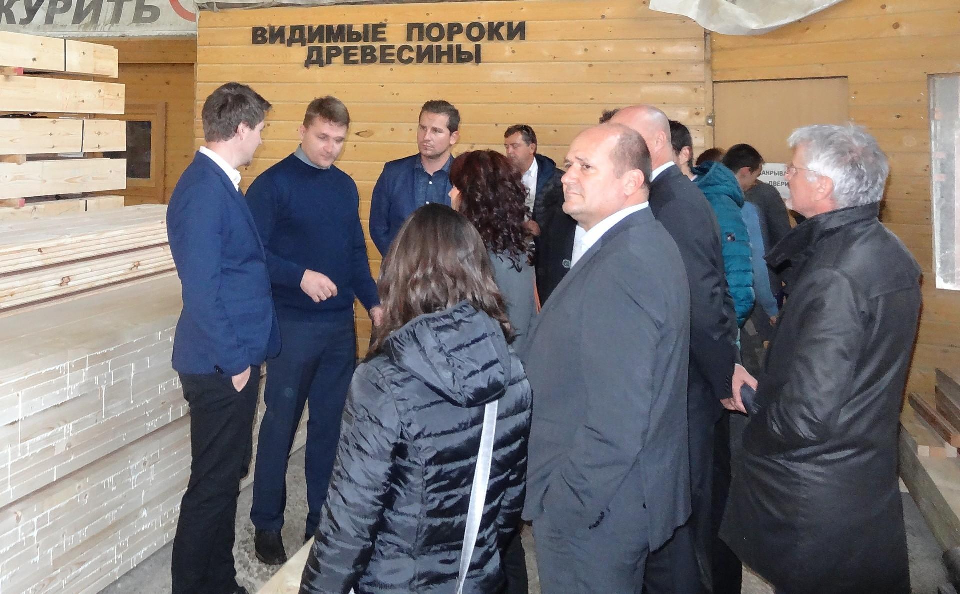 Obisk v lesno-pohištvenem podjetju v Vologdi.