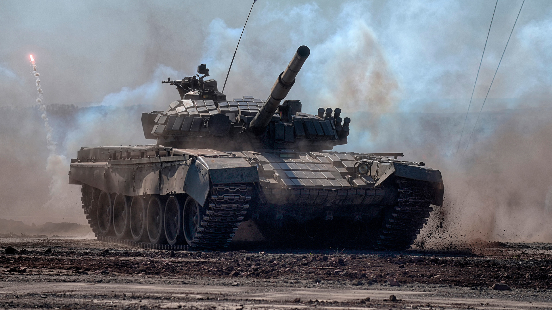Around 700 light and heavy armored vehicles - alongside 13,000 servicemen - showed what they're capable of during the drills.