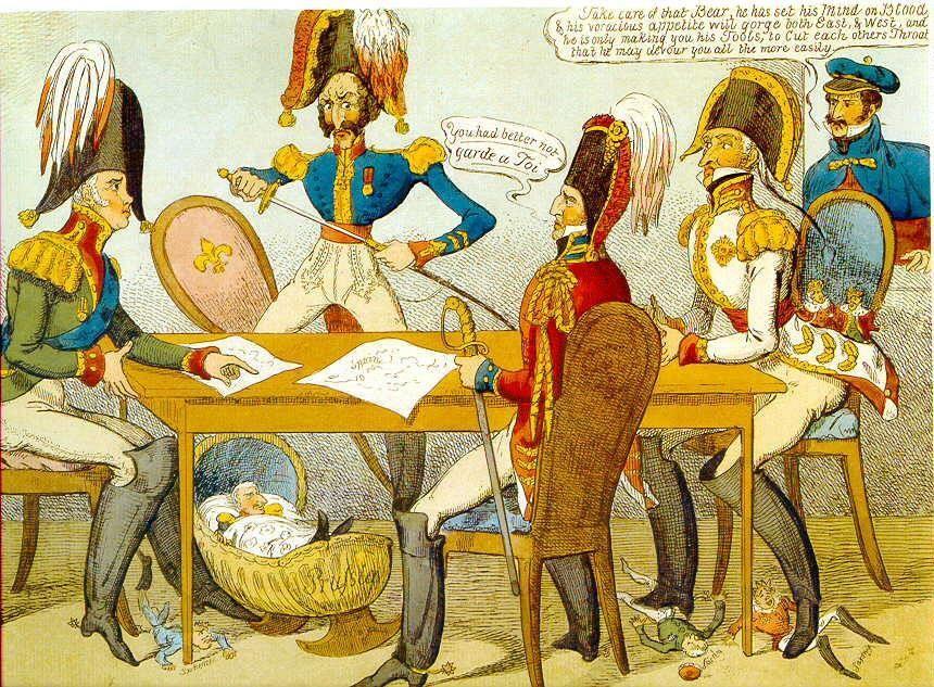Zeitgenössische Karikatur von 1822