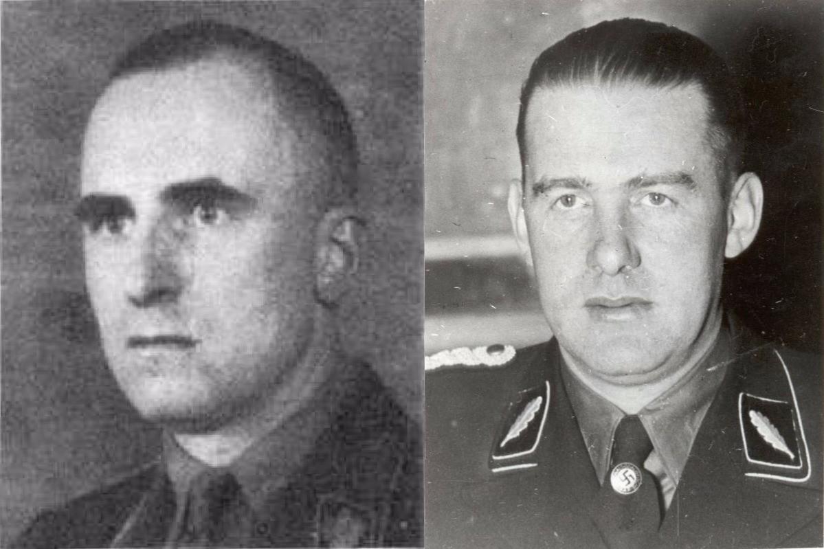 Siegfired Kasche (izq) y Odilo Globocnik (der.)
