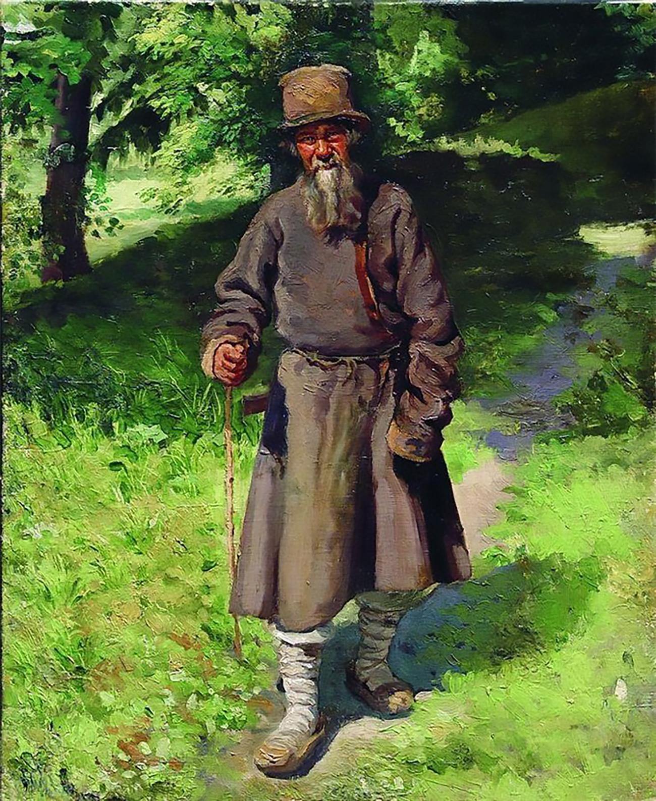 Kmet v gozdu, slikar Nikolaj Jarošenko.