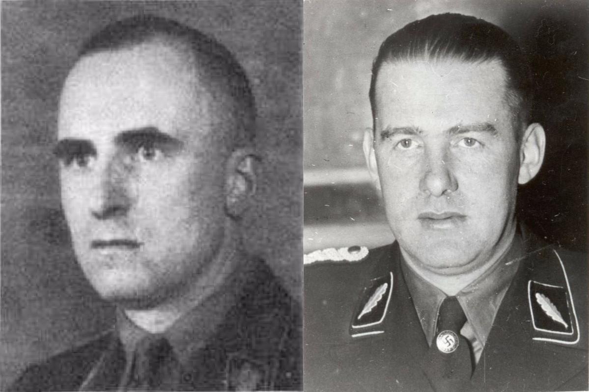 Зигфрид Шаше (отляво) и Одило Глобочник (отдясно).