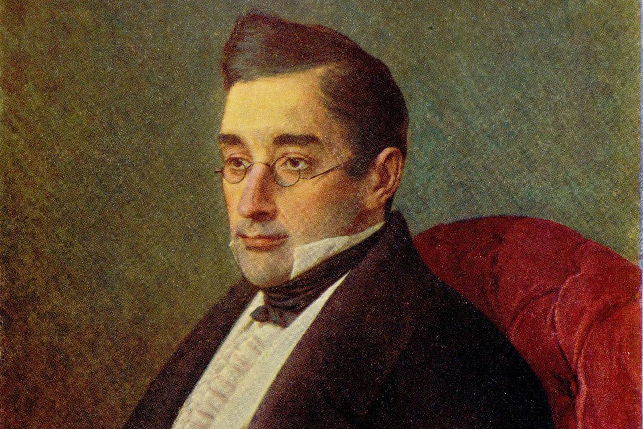 Griboiédov retratado por Ivan Kramskôi.