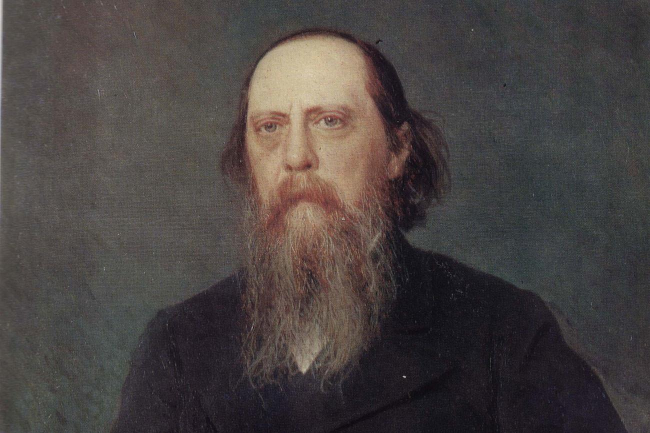 Saltikóv-Schedrín retratado por Ivan Kramskoi.